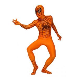 Orange Spiderman Lycra Spandex Zentai Suit