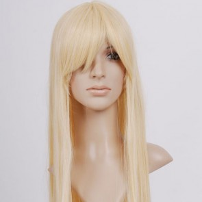 Pale Blonde Long Straight Cosplay Wigs