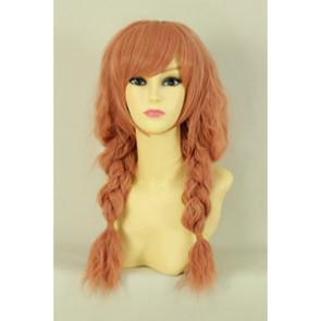 Pink 50cm Inu x Boku SS Karuta Roromiya Cosplay Wig
