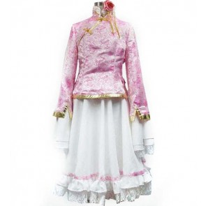 Axis Powers Hetalia Pink and White Taiwan Cosplay Costume