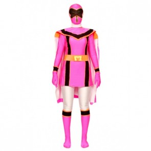 Pink Dinosaur Soldier Lycra Spandex Superhero Zentai Suit