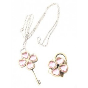 Pink Shugo Chara! Alloy Cosplay Key Necklace