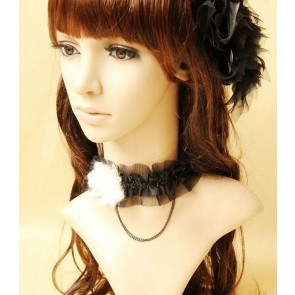 Pretty Black Baroque Lolita Choker