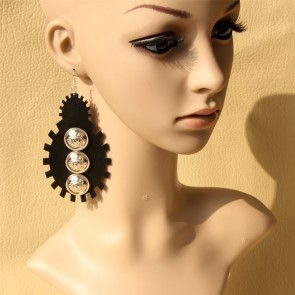 Punk Black Retro Girls Lolita Earrings