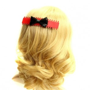 Punk Bow Girls Handmade Lolita Hairpin