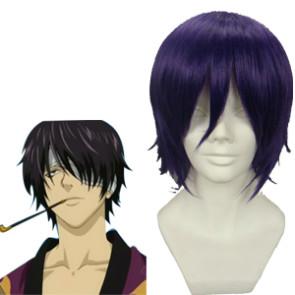 Purple 32cm Gintama Takasugi Shinsuke Nylon Cosplay Wig