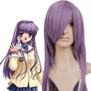 Purple 65cm Clannad Kyou Fujibayashi Nylon Cosplay Wig