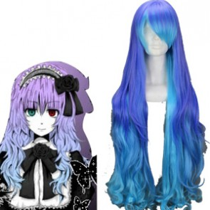 Purple and Blue 90cm Vocaloid Anti The Holic Luka Cosplay Wig