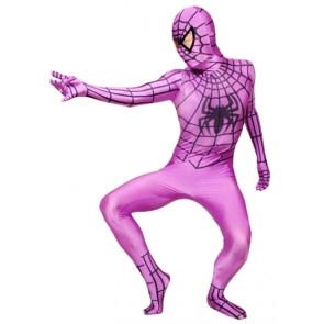 Purple Lycra Spandex Spiderman Zentai Suit