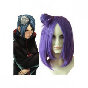 Purple Naruto Konan Cosplay Wig