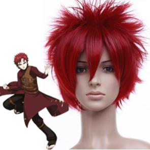 Red 30cm Naruto Sabakuno Gaara Cosplay Wig