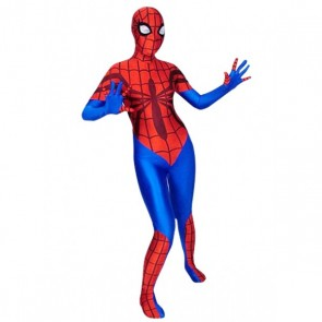 Red And Blue Spider Woman Lycra Spandex Zentai Suit
