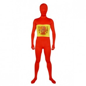 Red And Yellow Full Body Zentai Suit