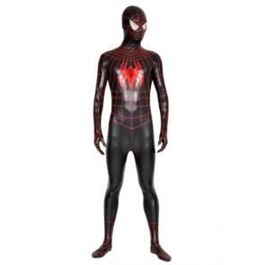 Red & Black Lycra Spandex Spiderman Zentai Suit