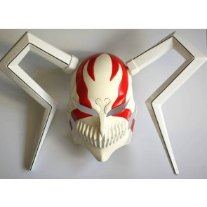 Red Bleach Ichigo Vizored PVC Cosplay Mask