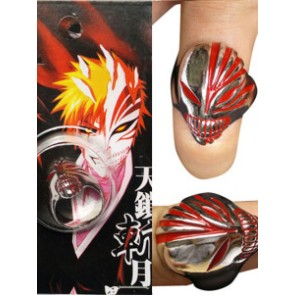 Red Bleach Urosaki Ichigo Hollows Alloy Cosplay Ring