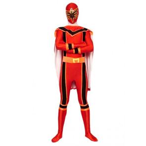Red Dinosaur Soldier Lycra Spandex Superhero Zentai Suit
