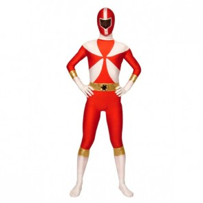 Red Lycra Spandex Terminator Superhero Zentai Suit