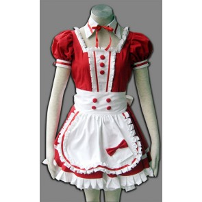Red Precious Stone Love Cosplay Maid costume