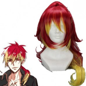Red Yellow 75cm Ao no ExorcistAo Shura Kirigakure Cosplay Wig