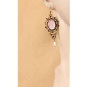 Retro Bead Handmade Women Lolita Earrings