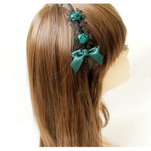 Retro Dark Green Handmade Lolita Headband