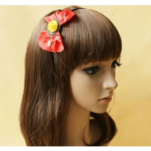 Retro Floral Bead Girls Lolita Headband
