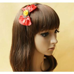 Retro Floral Bead Girls Lolita Headband