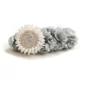 Retro Floral Beaded Girls Lolita Hairpin