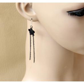 Retro Floral Handmade Lady Lolita Earrings