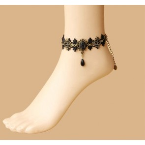 Retro Handmade Bead Girls Lolita Ankle Belt