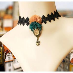 Retro Handmade Palace Lace Lady Lolita Necklace