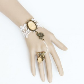 Retro Lace Handmade Lady Lolita Bracelet And Ring Set