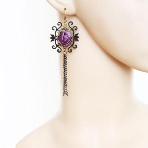 Retro Rose Handmade Girls Lolita Earrings