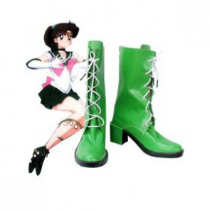 Sailor Moon Jupiter Lita Kino Imitation Leather Cosplay Boots