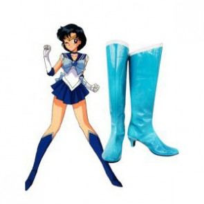 Sailor Moon Sailor Mercury Imitation Leather Cosplay Boots