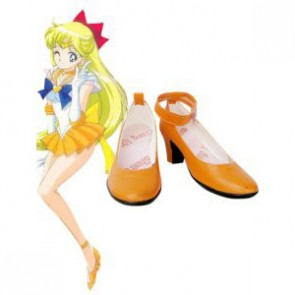 Sailor Moon Venus Mina Aino Imitation Leather Cosplay Shoes