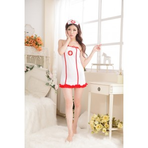 Sexy Backless Bow Naughty Nurse Costume