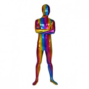Sexy Colorful Full Body Shiny Metallic Unisex Zentai Suit