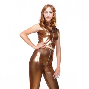 Sexy Dark Coffee PVC Zentai Suit