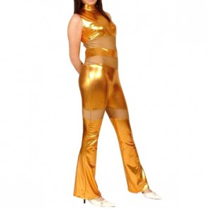 Sexy Golden Full Body Shiny Metallic Unisex Zentai Suit