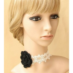 Sexy Grey Floral Girls Lolita Necklace