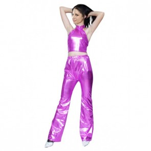 Sexy Purple Shiny Metallic Unisex Zentai Suit