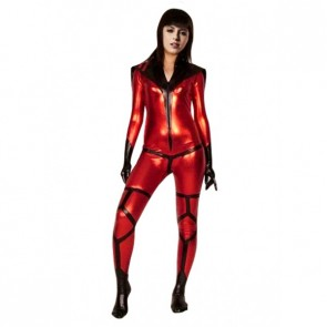 Sexy Red and Black PVC Zentai Suit