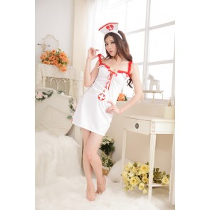 Sexy Sleeveless Strap Nurse Uniform Costume