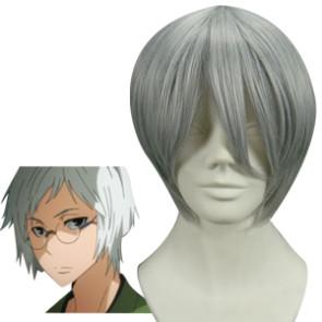 Silver 32cm Katekyo Hitman Reborn! Kawahira No Ojisan Cosplay Wig