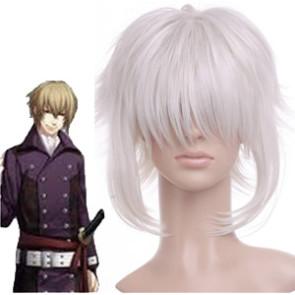 Silver 35cm Hakuouki Kazama Chikage Cosplay Wig