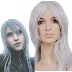 Silver 65cm Final Fantasy Yazoo Cosplay Wig