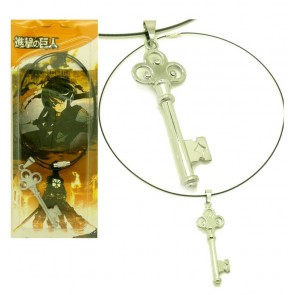 Silver Attack On Titan Eren Cosplay Key Necklace