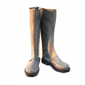 Silver Axis Powers Hetalia Faux Leather Cosplay Boots